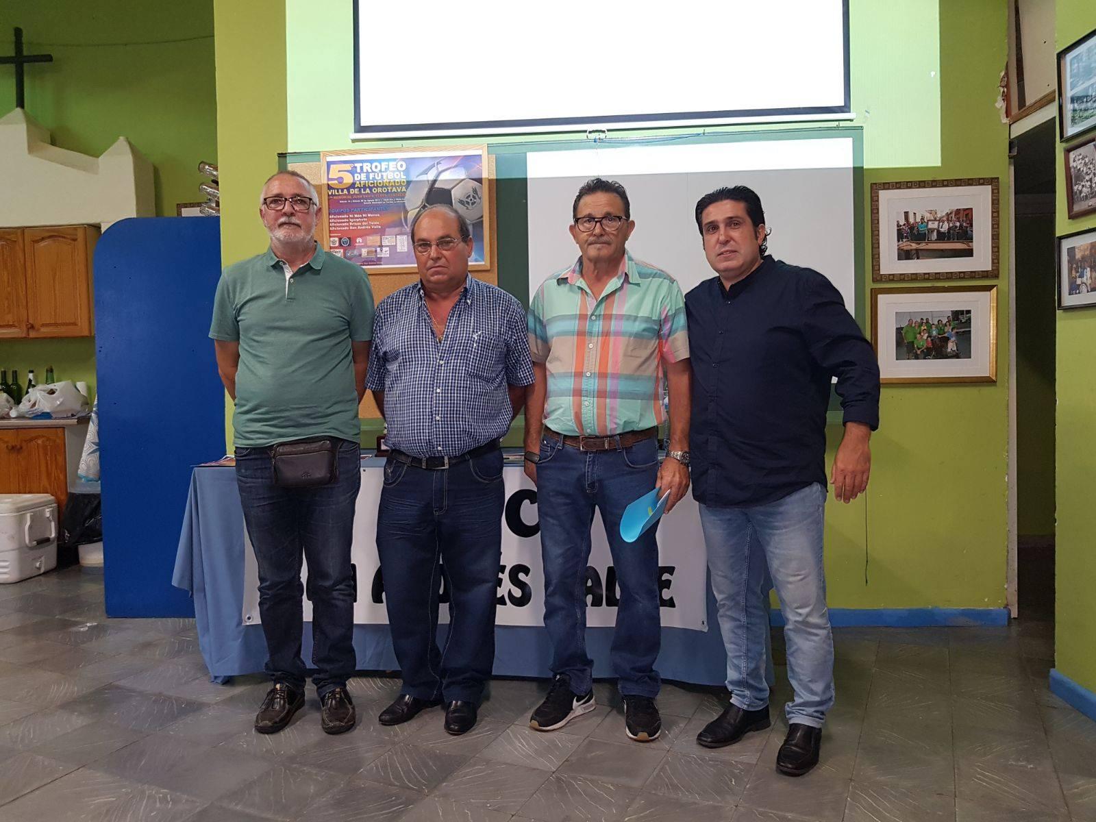 Presentación del 6° Trofeo de Fútbol Aficionado Villa de La Orotava y 2° Memorial Juan David Yanes González,
