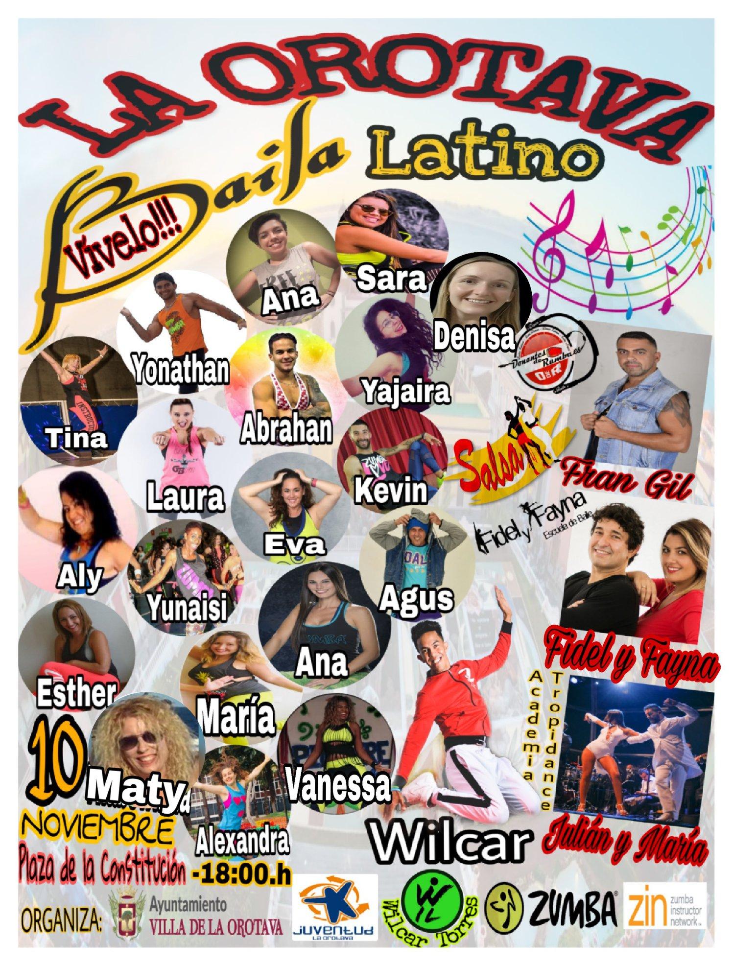 La Orotava Baila Latino, el próximo sábado en la Plaza de la Constitución