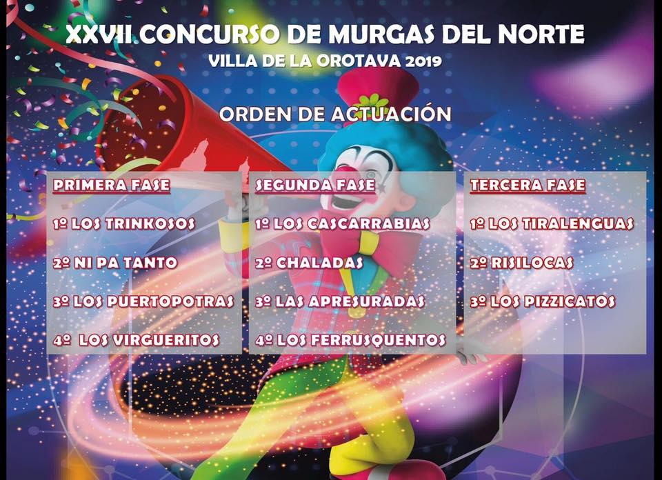 Trinkosos, de La Orotava, abrirá el certamen de murgas del Norte