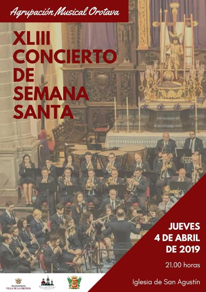 La iglesia de San Agustín acoge el próximo jueves 4 el XLIII Concierto de Marchas Procesionales