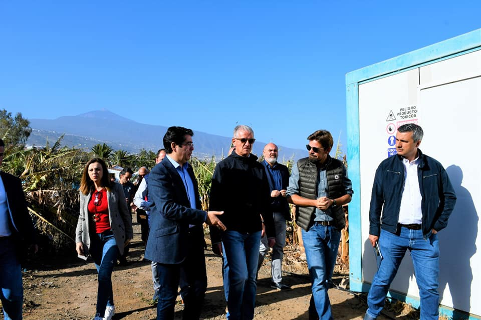 El presidente del Cabildo Pedro Martín visita las zonas afectadas por el temporal