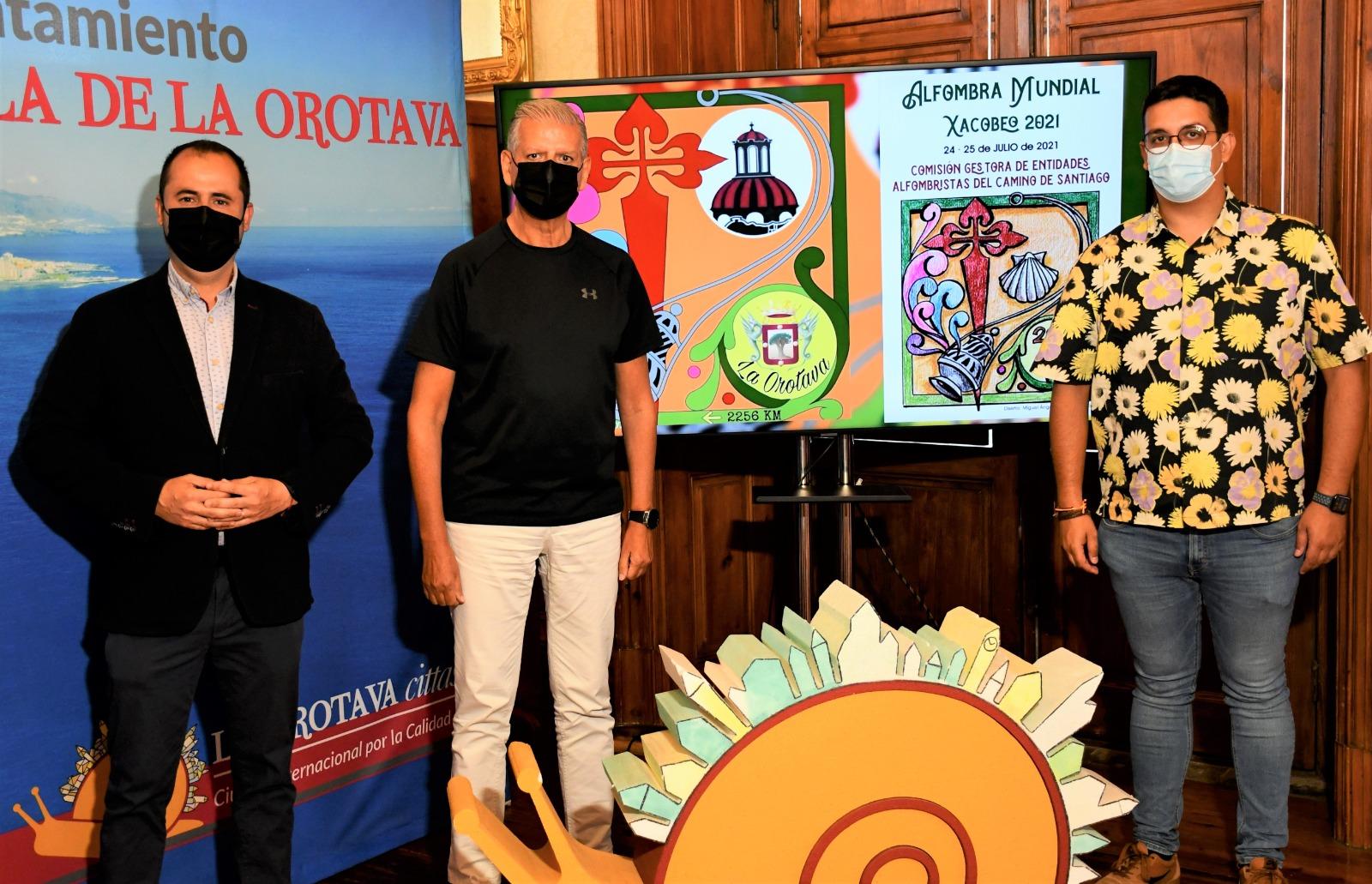 La Orotava se suma a la iniciativa 'Alfombra Mundial' del Año Xacobeo 2021