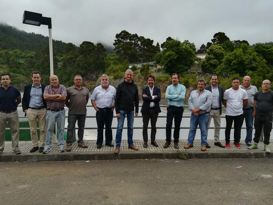 En septiembre concluirá la impermeabilización de la balsa de Aguamansa