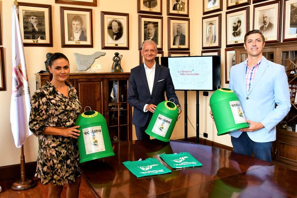 El Ayuntamiento La Orotava se suma a la campaña 'Ecólatras de Tenerife', de Ecovidrio- una plataforma de iniciativas para personas comprometidas con el medioambiente