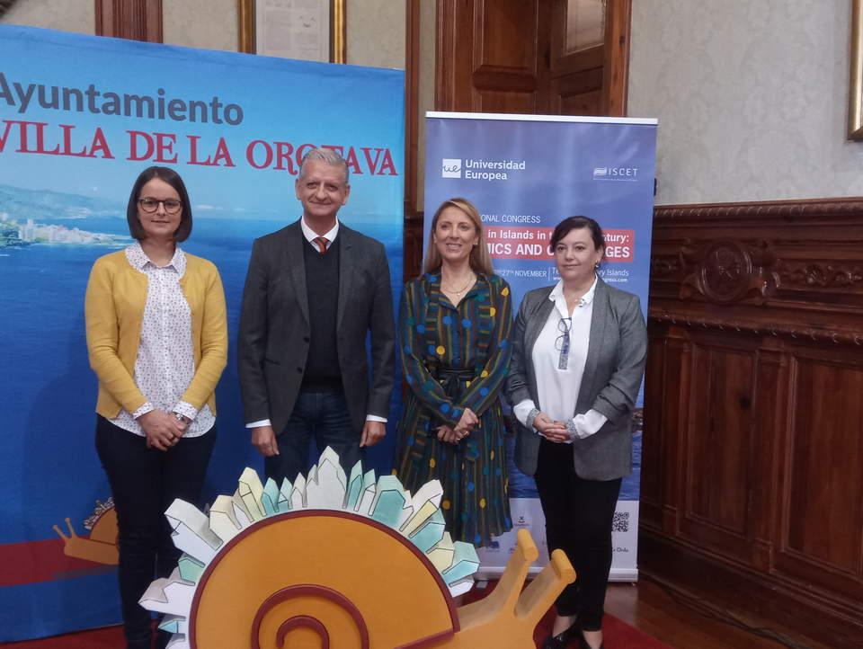 Delia Escobar, Francisco Linares, Cristina Oliveira y Elena Pérez