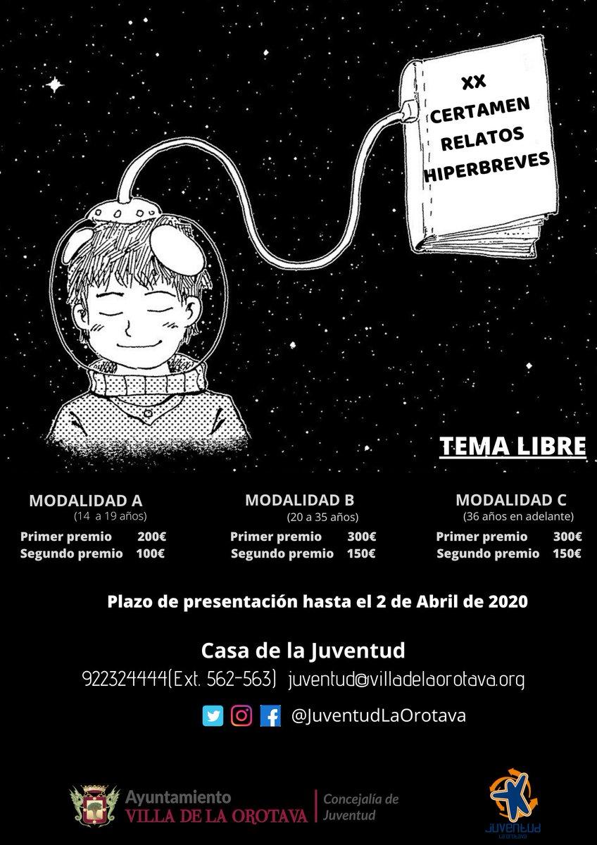El Ayuntamiento fomenta la creación literaria con la convocatoria del XX Certamen de Relatos Hiperbreves