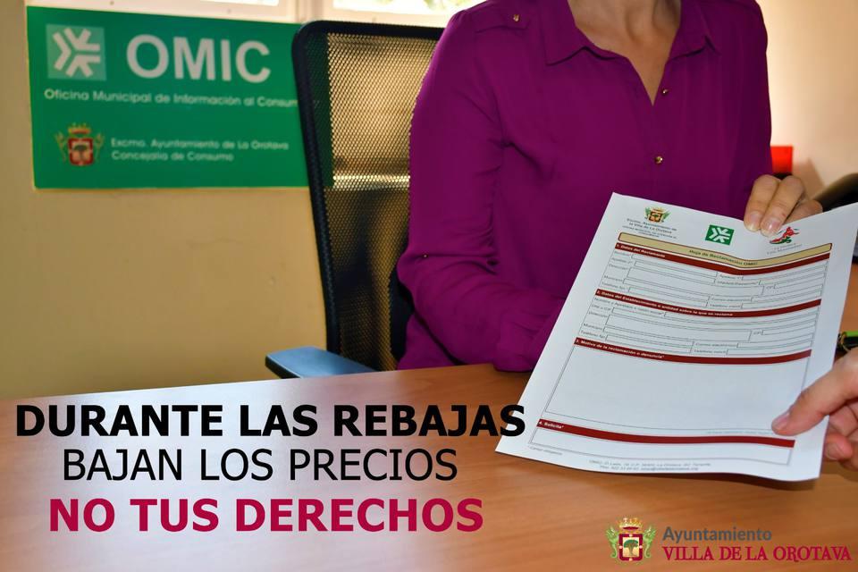 La OMIC lanza una campaña recordando los derechos de los consumidores ante las rebajas