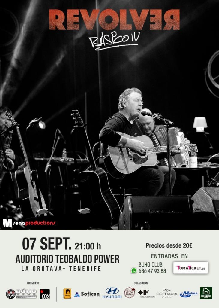 'Revólver' llega a La Orotava con su nueva gira 'Básico IV'