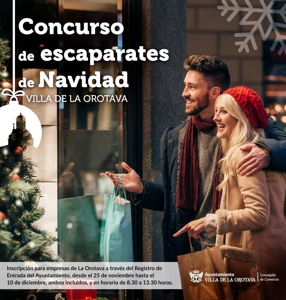LOS COMERCIOS DE LA OROTAVA PUEDEN COMPETIR EN CREATIVIDAD INSPIRÁNDOSE EN LA NAVIDAD
