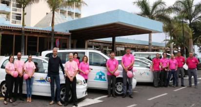 Los taxistas del Valle se unen al rosa en el Día Internacional de Contra el Cáncer de Mama
