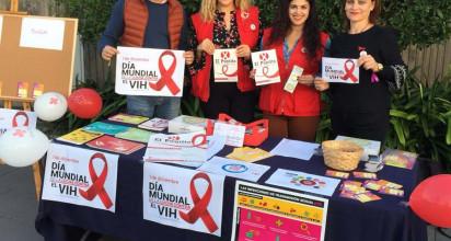 Stand informativo con motivo del Día Mundial de la lucha contra el Sida