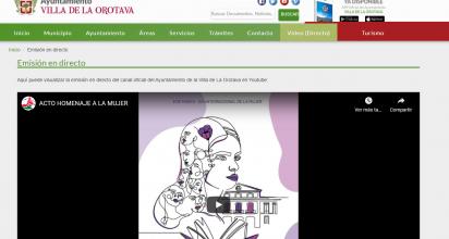 La web corporativa ya cuenta con un espacio de 'Emisión en directo'
