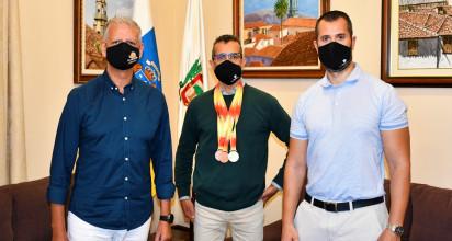 El atleta orotavense logró el título en el certamen nacional disputado el pasado fin de semana en San Fernando (Cádiz)