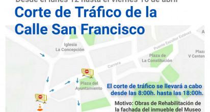 Corte de tráfico de la callen San Francisco.