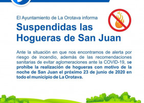 suspendidas las hogueras por San Juan