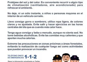 El Gobierno de Canarias ha declarado situación de ALERTA POR TEMPERATURAS MÁXIMAS Y ALERTA POR RIESGO DE INCENDIO FORESTAL