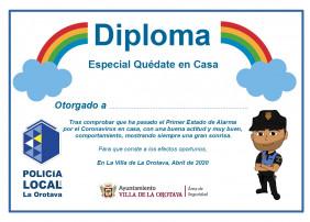 Los niños/as de La Orotava reciben un diploma por su buen comportamientol
