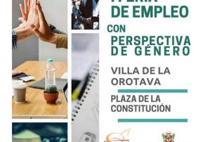 La Plaza de la Constitución acoge una Feria de Empleo con Perspectiva de Género