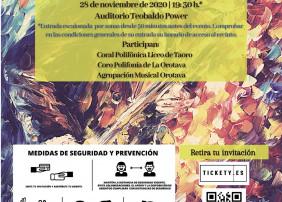El Coro Polifonía La Orotava y la Coral del Liceo acompañarán en esta ocasión a la banda de música villera