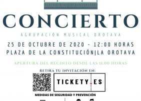 Cartel del concierto de la Agrupación Musical de La Orotava
