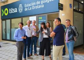 El Cabildo invierte 120.000 euros en mejorar la accesibilidad de la Estación de Guaguas de La Orotava