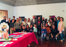 """Rayco Rodríguez; Víctor Pérez y Natalie Pereira, ganadores del XI concurso """"Arte con Enganche"""""""