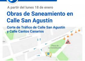 Este lunes comienzan las obras de saneamiento y asfaltado de la calle San Agustín, que contribuirán al tratamiento de las aguas residuales y la sostenibilidad del municipio