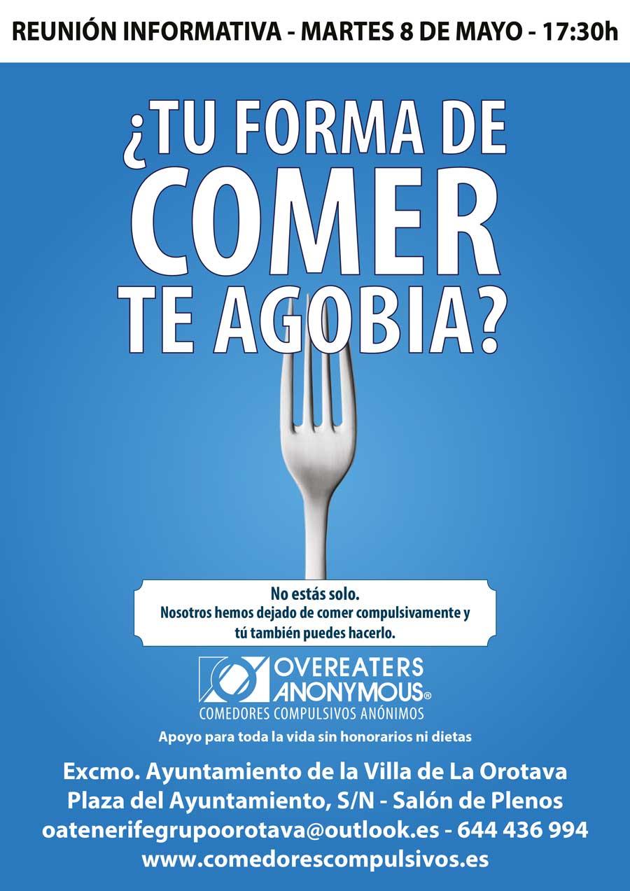 Charla: ¿Tú forma de comer te agobia?   Villa de La Orotava