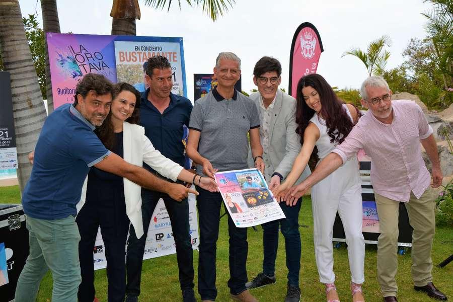 David Bustamante y Pastora Soler, en septiembre en la Villa con el festival 'La Orotava Suena'
