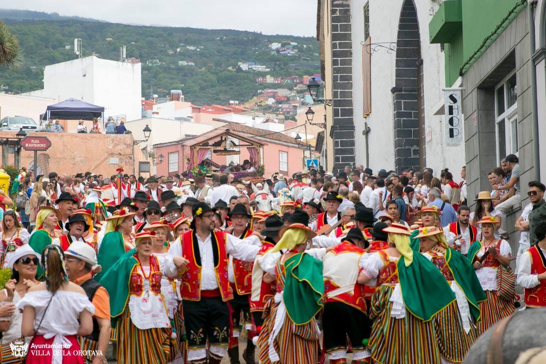 Más de 160.000 personas visitaron La Orotava la semana grande de las fiestas
