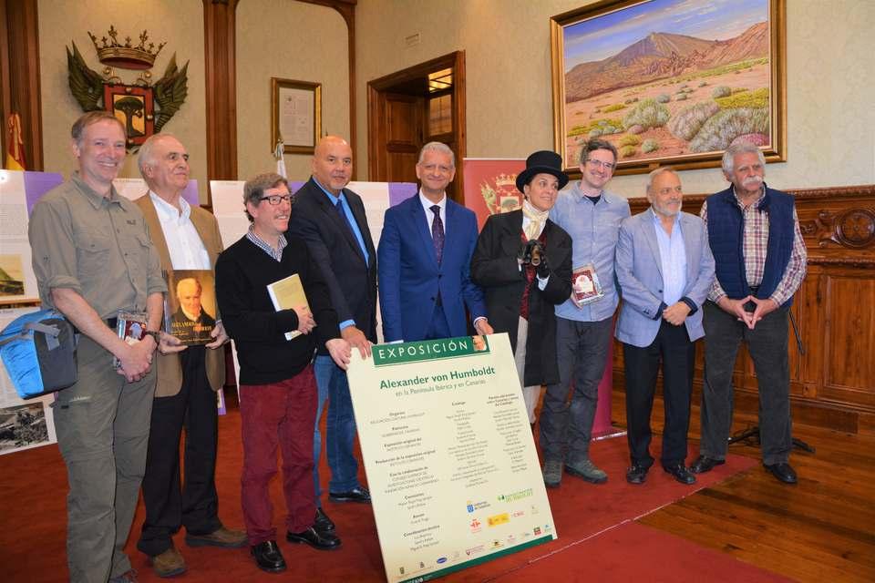 La Orotava recibe a estudiantes de la Universidad de Humboldt con motivo del 250 aniversario del nacimiento del geógrafo