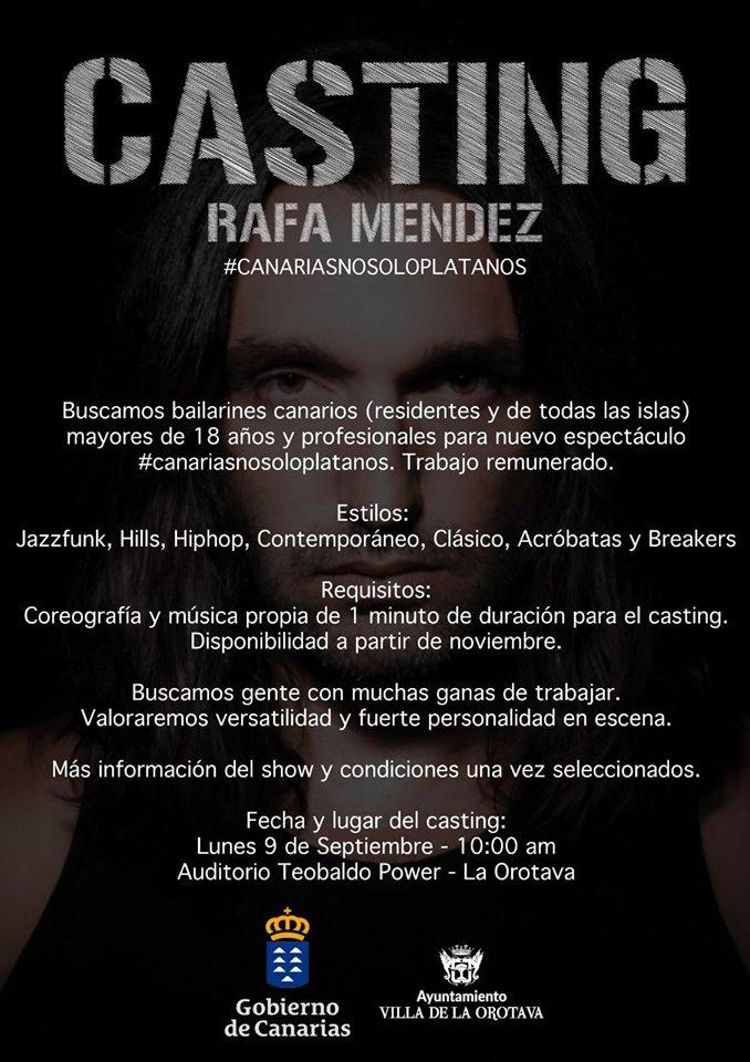 Rafa Méndez presenta en La Orotava su nuevo espectáculo 'Canarias, no solo plátanos'