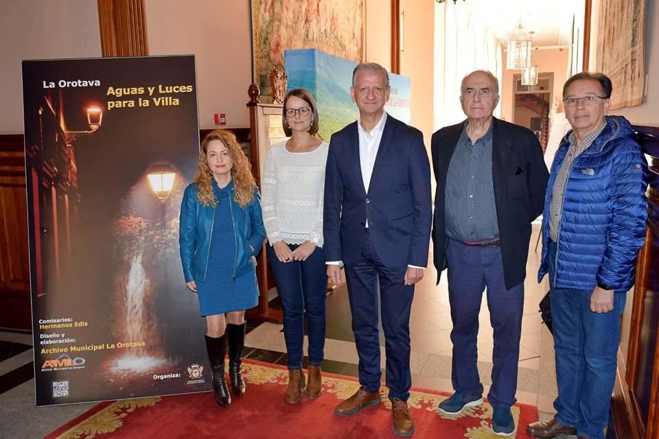 Exposición de aguas y luces en la Orotava