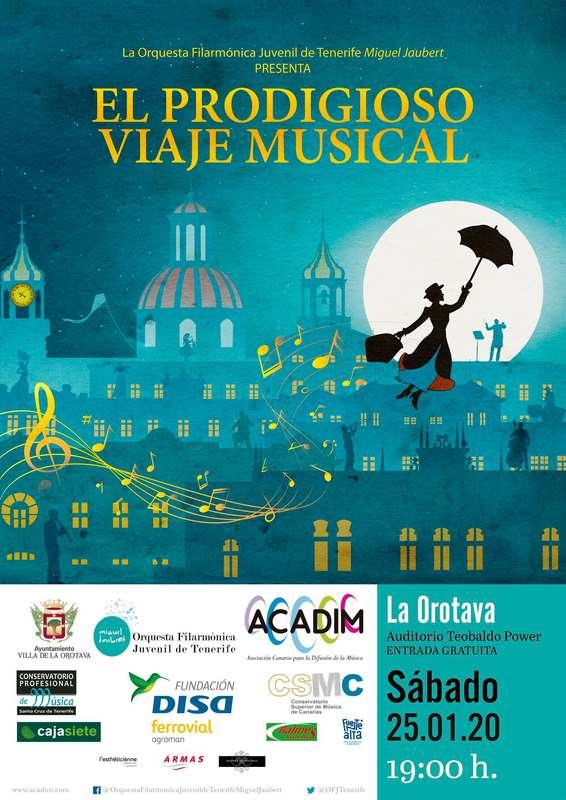 La Orotava acoge un concierto de la Orquesta Filarmónica Juvenil de Tenerife inspirado en Mary Poppins
