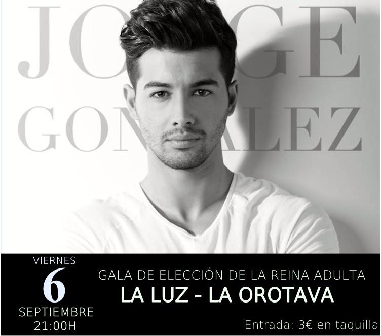 El cantante Jorge González actúa en el barrio orotavense de La Luz