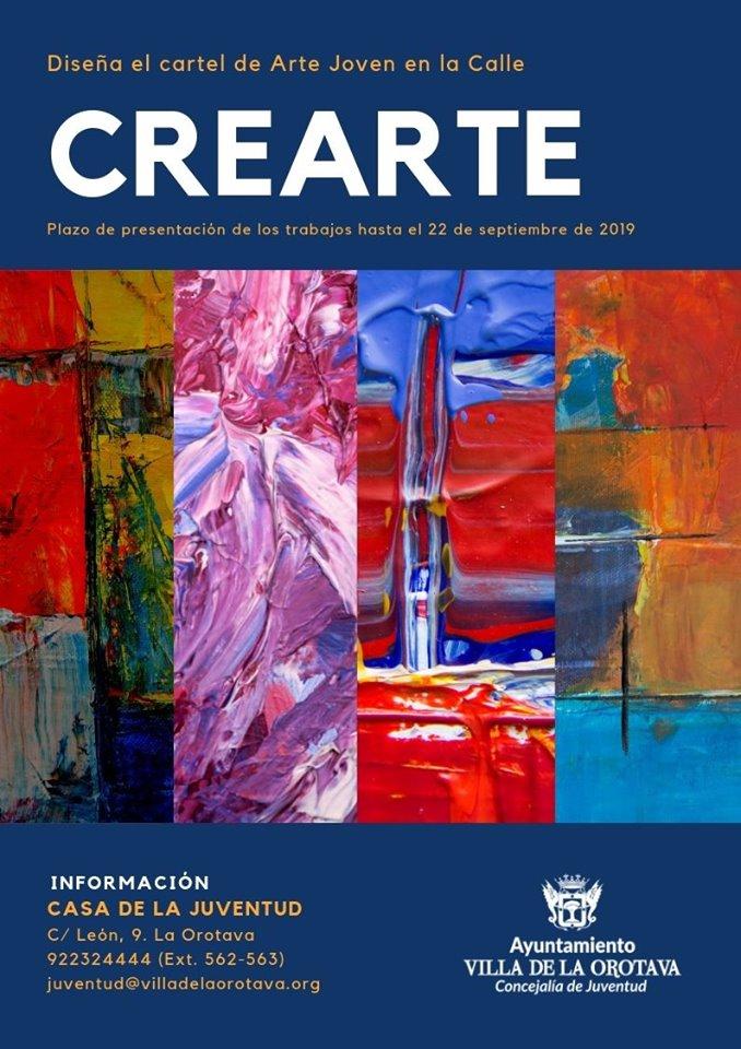 Convocado el concurso 'CreArte' para elegir el cartel de Arte Joven en la Calle 2019