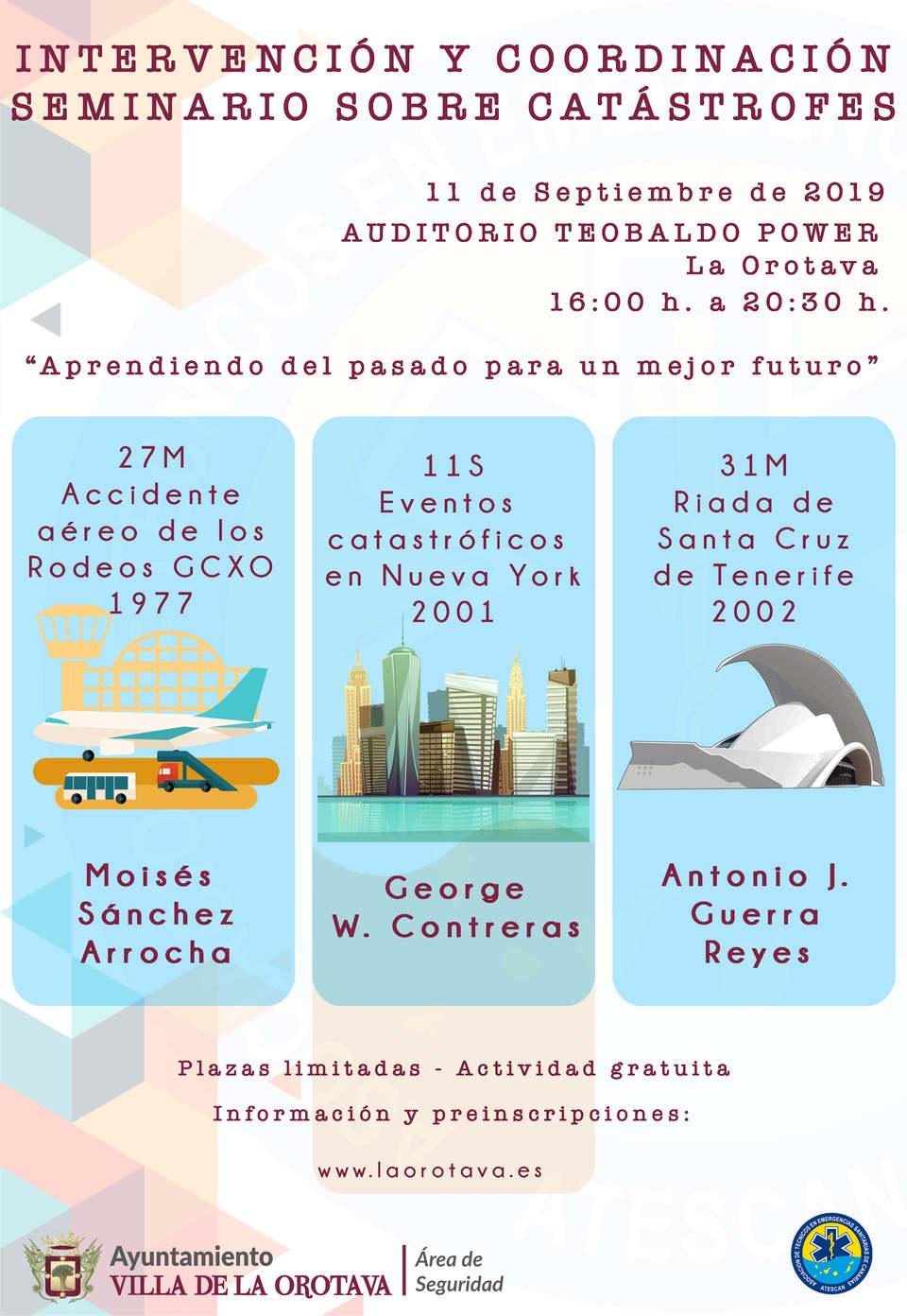Seminario sobre catástrofes en  La Orotava