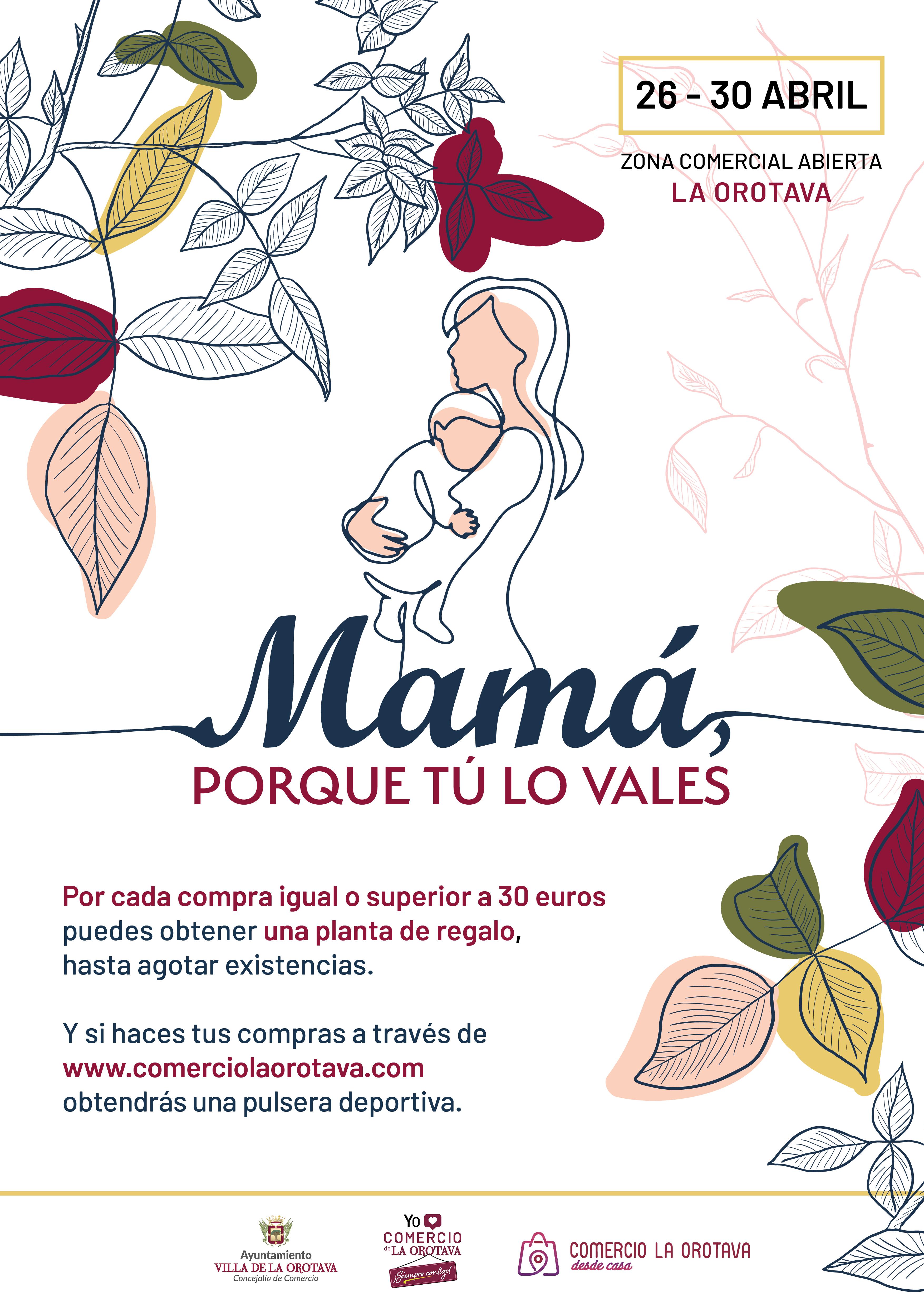 La iniciativa se desarrollará entre los días 26 y 30 de abril y tiene como objetivo dinamizar el comercio local aprovechando la celebración del 'Día de la Madre'