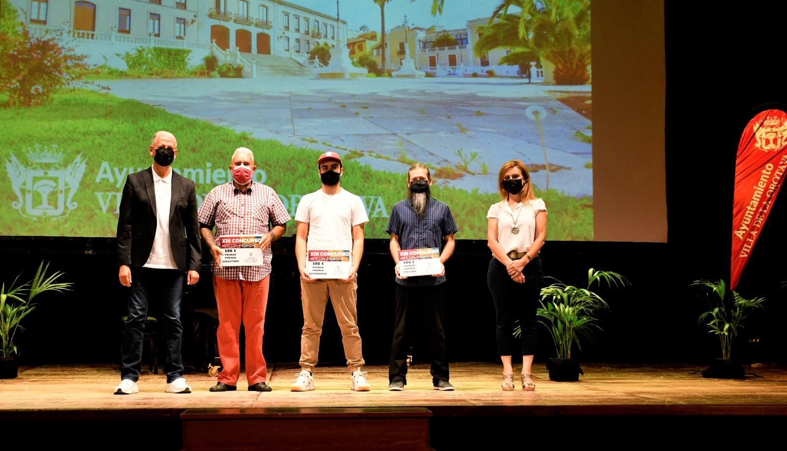 Ciro Romero, Santiago García y José Andrés González, ganadores en las tres modalidades de Arte con Enganche