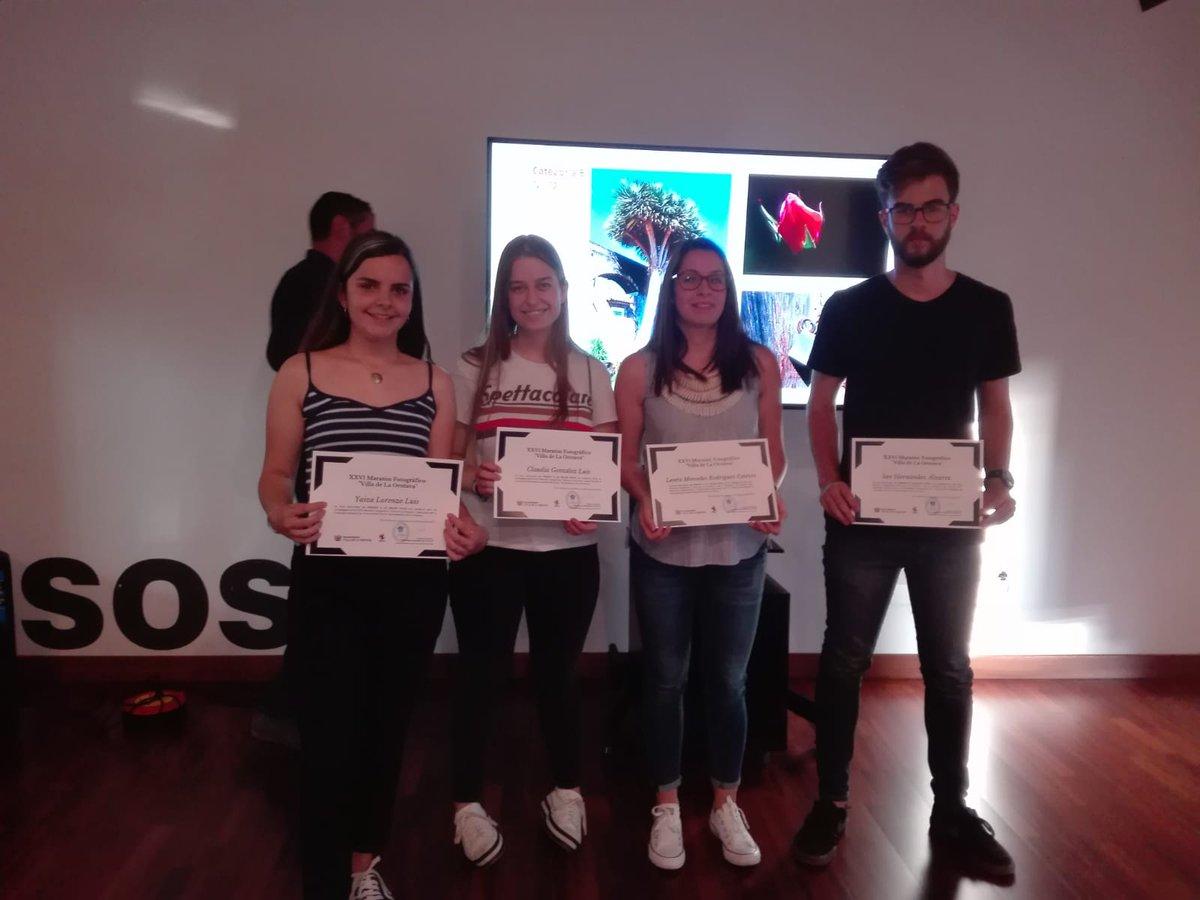 Los ganadores del XXVI Maratón Fotográfico Villa de La Orotava reciben sus premios