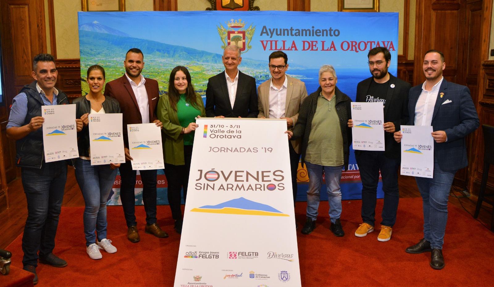 El Valle de La Orotava, en Tenerife, acoge las Jornadas Jóvenes Sin Armarios: referente del discurso joven LGTBI de todo el país