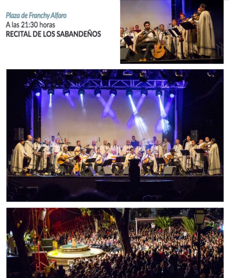ESTA NOCHE XXVII RECITAL DE LOS SABANDEÑOS EN LA OROTAVA