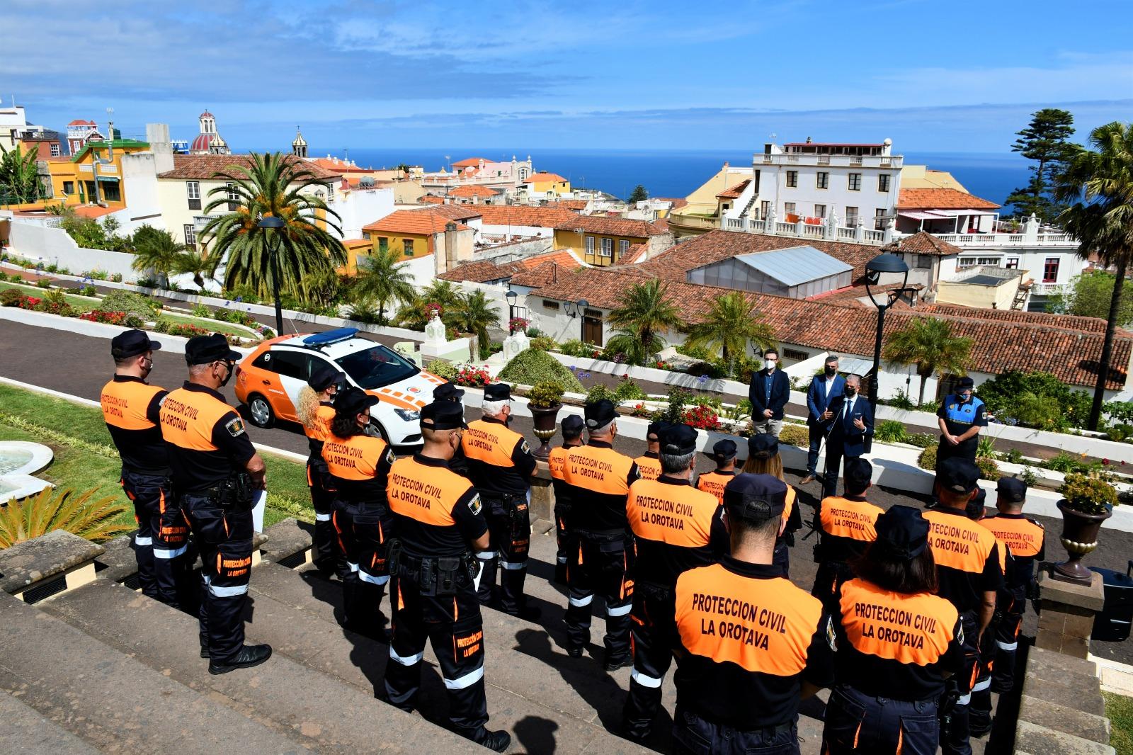 La Agrupación de Protección Civil de La Orotava celebra su séptimo aniversario