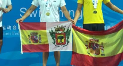 El agente orotavense José Báez se hace con diez medallas en los Juegos Mundiales de Policías y Bomberos en China