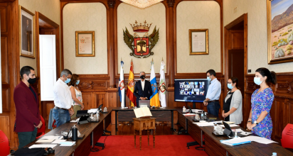 El Pleno del Ayuntamiento de La Orotava aprueba tres declaraciones institucionales con el apoyo unánime de todos los grupos políticos de la corporación