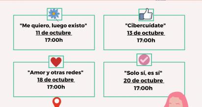 00 horas, se celebrarán dos sesiones, del ciclo de cuatro actividades previsto y que comenzó el pasado 11 de octubre