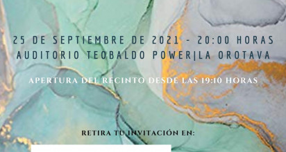 El concierto tendrá lugar el próximo 25 de septiembre, a partir de las 20:00 horas, en el Auditorio Teobaldo Power