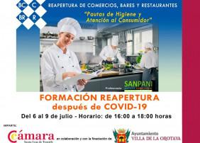 FORMACIÓN NECESARIA PARA COMERCIOS, BARES Y RESTAURANTES DE LA OROTAVA