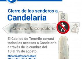 CIERRE DE SENDEROS A CANDELARIA