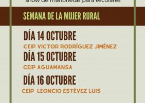 Cartel de la semana de la mujer rural